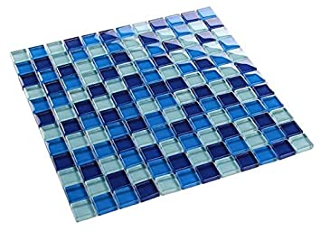 Glasmosaik Fliesen Mosaik Klarglas Effekt Rot 25 x 25 x 4 mm Matte