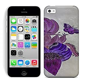 Best Power HD Colorful Painted Watercolor Grandeur Flowers Hard Phone Case For Iphone 5C