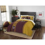 3pc Full NFL Washington D.C. Redskins Football Team Comforter, Dark Maroon Mustard Yellow, Sports Fan Bedding, Team Logo, Team Spirit, Football Themed, Merchandise