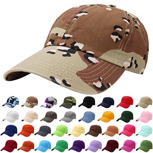 Falari Baseball Cap Hat 100% Cotton Adjustable Size (Desert Camo)