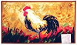 Kashi Home Rectangle Mat with Latex Back Hen Collection Kitchen Rug, 20'' by 40''