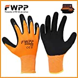FWPP High Visibility Work Gloves for General Purpose, Foam Double Textured Latex Coated Work Gloves, Garden Gloves,Work Gloves,Medium,Large,Extra-large,6 Pairs,12 Pairs (Medium-12Pairs)