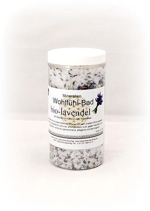 Magnesia de mineral de baño de lavanda 500 ml con magnesio desde el Mar Muerto