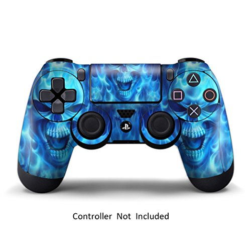 Skins for PS4 Controller - Decals for Playstation 4 Games - Stickers Cover for PS4 Slim Sony Play Station Four Controllers PS4 Pro Accessories PS4 Remote Wireless Dualshock 4 Skin - Blue Daemon