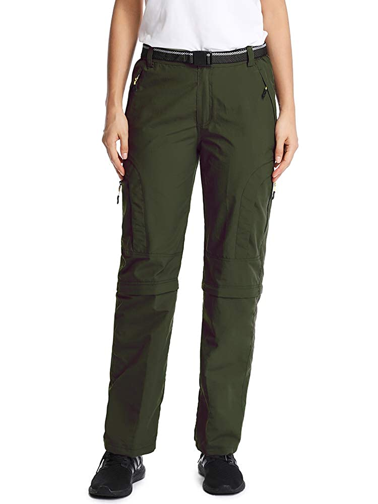 Womens Outdoor Quick Dry Convertible Pants Water-Resistant Hiking Fishing Zip Off Cargo Pants Trousers