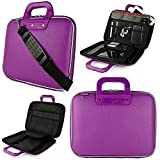 FunBlast Laptop Messenger Bag, Upto 15.6 inch, Tablet and Executive Office Bag, Briefcase Water Repellent Computer Case Sleeve for College/School/Business/Women/Man, Checkpoint Friendly Laptop Bag, Available in Different colors (Purple)