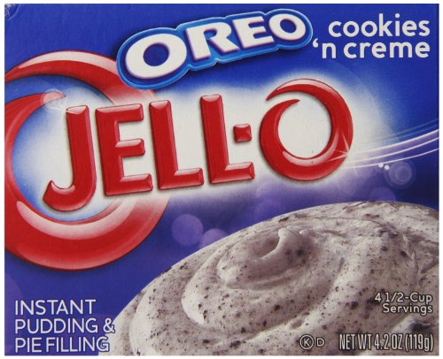 Jell-O Oreo Cookies 'n Creme Instant Pudding & Pie Filling Mix, 4.2-Ounce Box (Pack of 24) -