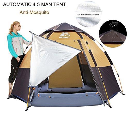 Hewolf Camping Tents 2-4 Person Waterproof