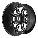 xd wheels 18 - XD Series by KMC Wheels XD809 Riot Matte Black Wheel With Machined Accents (18x9