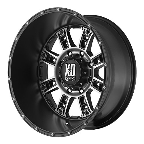 """XD Series by KMC Wheels XD809 Riot Matte Black Wheel With Machined Accents (20x14""""/6x139.7mm, -76mm offset)"""