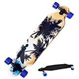 Oanon 41 Inch Wooden Drop Down Deck Longboard Complete Outdoors Fun Adult Skate Board