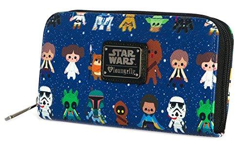 Loungefly Star Wars Baby All Over Print Zip Around Wallet (Checkbook Wallet Tattoo)