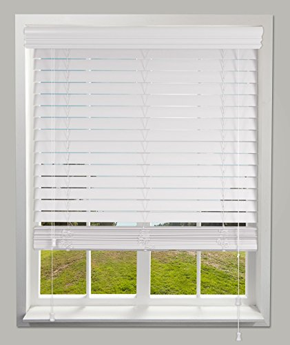Calyx Interiors Faux Wood Blind Snow White 60