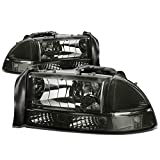 Dodge Dakota/Durango 4pcs Replacement Headlight+Bumper Lights Kit (Smoke Lens)