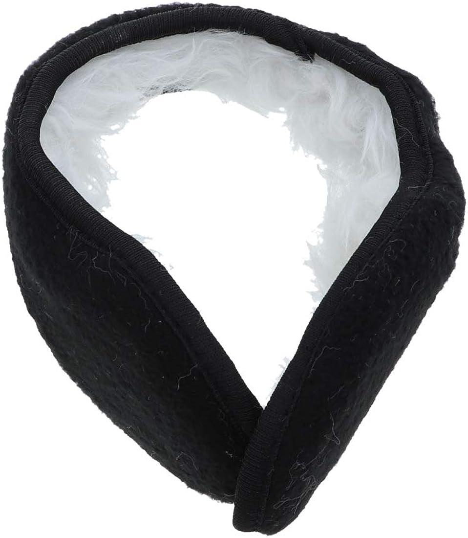 Plush Mens Womens Solid Folding Earmuff