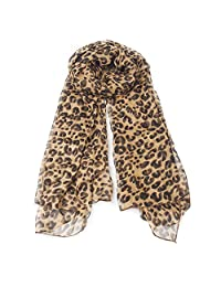 ArRord Fashion Women Brown Leopard Print Soft Long Stole Pashmina Scarf Shawl