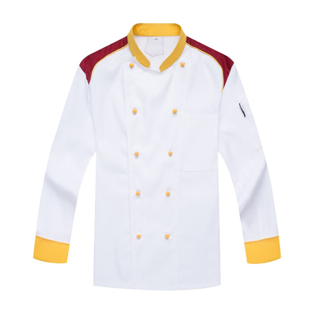 WAIWAIZUI Catering Uniforms Chefs Jackets Long Sleeves White