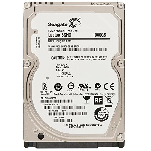 Seagate 1TB Gaming SSHD SATA 8GB NAND SATA 6Gb/s 2.5-Inch Internal Bare Drive (ST1000LM014) (Certified Refurbished)