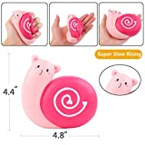 Aolige Jumbo Squishies Cute Red Snails Kawaii Cream Scented Very Slow Rising Decompression Squeeze Toys for Baby