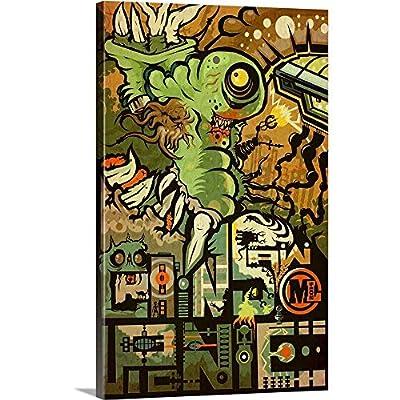 Chainsaw Picnic Canvas Wall Art Print