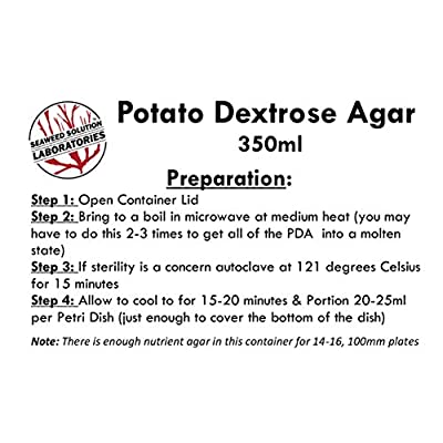 Potato Dextrose Agar (PDA), 350 Milliliters - Sterilized: Toys & Games