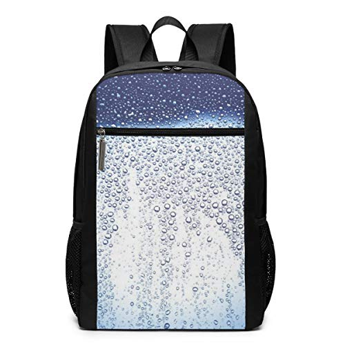 PhyShen Dew Drops Glass Texture Unisex Custom Shoulder Bags,Adult Student Double Zipper Closure Casual School ()