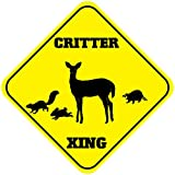 Fastasticdeals Critter Crossing Funny Metal Aluminum Novelty Sign