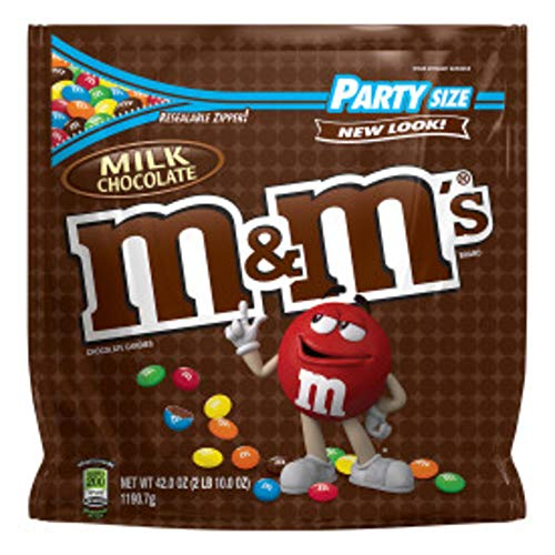 M&M'S Milk Chocolate Candy Party Size 42-Ounce Bag -
