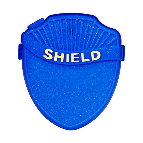 Shield Prime Bedwetting Enuresis Alarm for Boys and Girls with Loud Tone, Light and Vibration Best Bedwetting Alarm for Deep Sleepers to Stop Nighttime Bedwetting V2 (Blue)