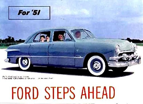 FULL COLOR 1951 FORD PASSENGER CARS DEALERSHIP SALES, used for sale  Delivered anywhere in USA