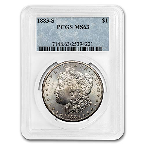 1883 S Morgan Dollar MS-63 PCGS $1 MS-63 PCGS