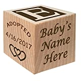 Gotcha Day - Adoption Gift - Personalized Wooden Block Child Keepsake Gift Custom Engraved Boys and Girls Adopt Adopted Present Photo Frame