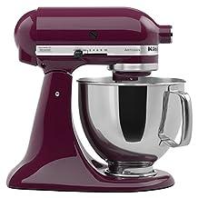 KitchenAid KSM150PSBY Artisan 5-Quart Stand Mixer, Boysenberry