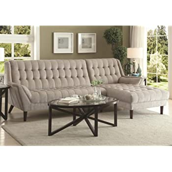 1perfectchoice natalia living room tufted wide for Amazon sectional sofa with chaise