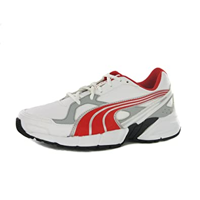 Puma Axis 2 Sl Jr Unisex-Child Running Shoe White High Risk Red ... ee615a887
