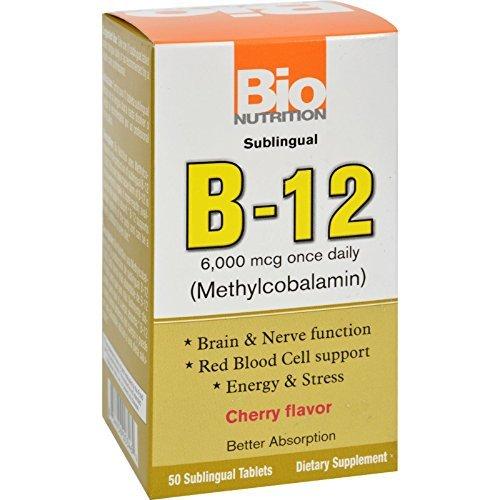 Bio Nutrition Inc B 12 Sublingual 6000 Mcg 50 Tab by Bio Nutrition