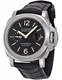 Mens Swiss Automatic Stainless Steel Casual Watch, Color:Black (Model: PAM00104)
