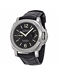 Panerai Men's Swiss Automatic Stainless Steel Casual Watch, Color:Black (Model: PAM00104)