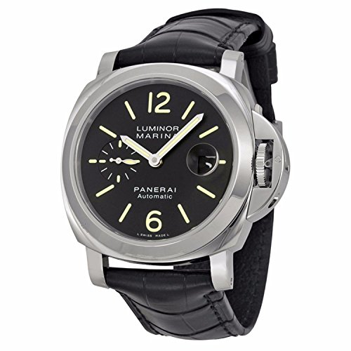 Panerai Marina - Panerai Men's Swiss Automatic Watch with Stainless Steel Strap, Black (Model: PAM00104)