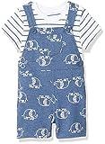 Little Me Baby Boy's Knit Shortall Set Pants, Blue, 9 Months