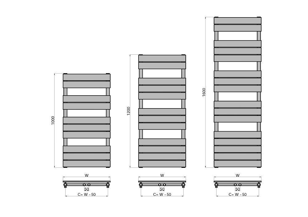 BADHEIZK/ÖRPER HANDTUCHW/ÄRMER HEIZK/ÖRPER MITTELANSCHLUSS HANDTUCHTROCKNER DESIGNBADHEIZK/ÖRPER anthrazit 600*1600 mm