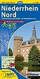 ADFC-Regionalkarte Niederrhein Nord mit Tagestouren-Vorschlägen, 1:75.000, reiß- und wetterfest, GPS-Tracks Download: Zwischen Kleve und Krefeld - mit NiederRheinroute (ADFC-Regionalkarte 1:75000)