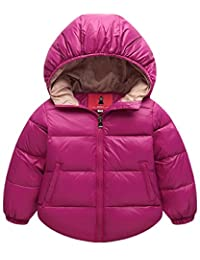 Aiffer Baby Boys Girls Hooded Coats Puffer Outerwear Winter Lightweight Jacket .