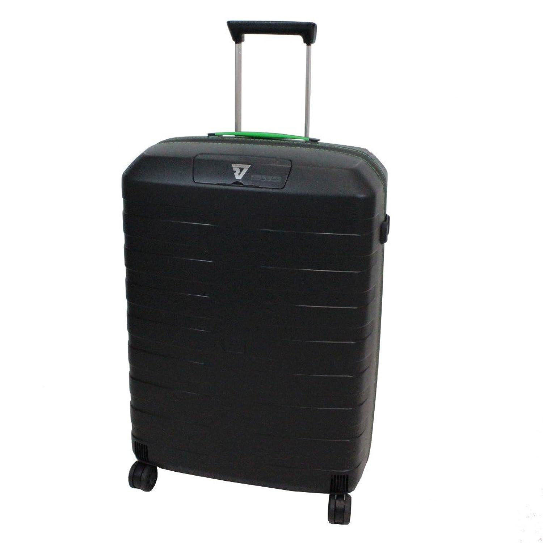 [ロンカート] RONCATO BOX イタリア製 超軽量スーツケース 64cm 67L 2.9kg 耐水ファスナー 双輪キャスター[5512] B01CZI57IYブラック/グリーン