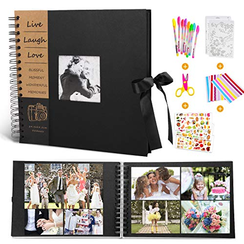 Photo Scrapbook Album - MMTX DIY Photo Album Collection Scrapbook Supplies with 50 Sheets 100 Pages for Mother's Day Birthday Wedding Anniversary Family Memory Christmas Valentines Gifts(10x10inch)
