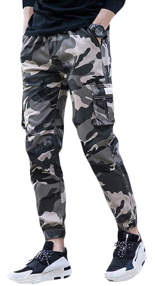Qiangjinjiu Mens Casual Cotton Trousers Military Army Cargo Combat Work Pants