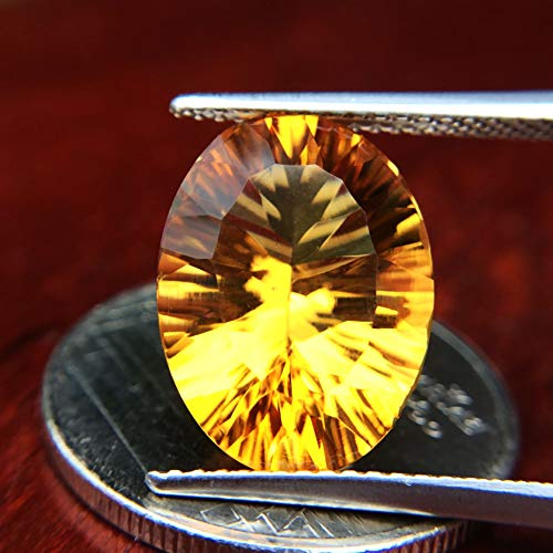 Lovemom 5.65ct Natural Oval Unheated Yellow Citrine Brazil #W by Lovemom (Image #1)