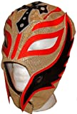 WWE Licensed Rey Mysterio Youths Kid Size Gold/Red Leather Pro Grade Mask