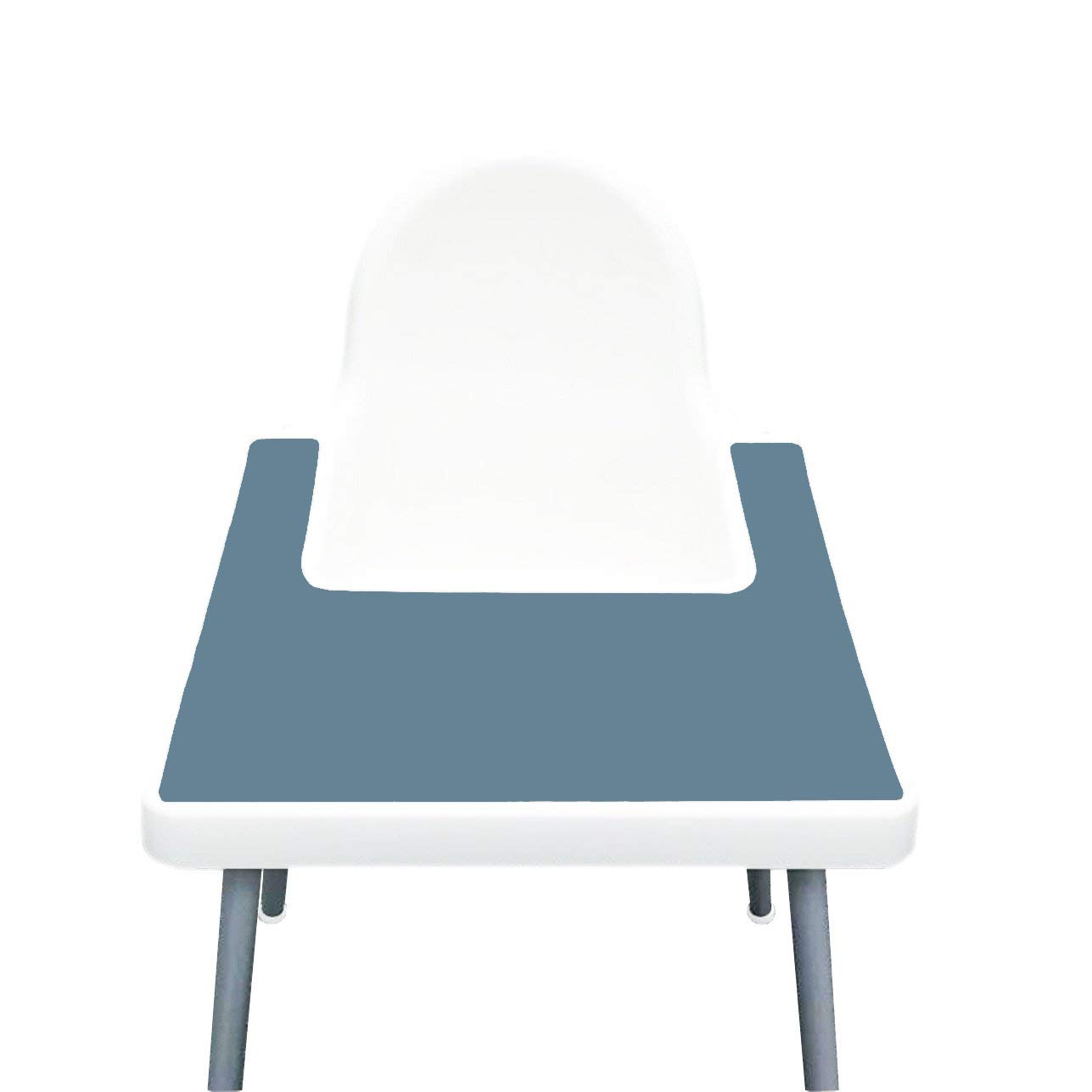 IKEA High Chair Placemat for Antilop Baby High Chair – Silicone Placemats for Baby and Toddler Finger Food Dropping – BPA Free, Dishwasher Safe – Non Slip Food Mat + More Colors (Ether Blue)