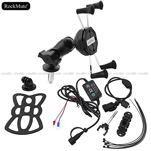 Mount Bike Bracket Gps - For HONDA CBR600RR CBR 600RR 2012-2017 Adjustable Mobile Phone Bracket Sport Camera Recorder Stay Mount GPS Navigation Support Holder 12V USB Charger Socket Waterproof Charge Port Bike Street Sport